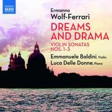 Ermanno Wolf-Ferrari (1876-1948): Sonaten für Violine & Klavier Nr.1-3, CD
