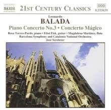 Leonardo Balada (geb. 1933): Klavierkonzert Nr.3, CD