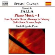 Manuel de Falla (1876-1946): Klavierwerke Vol.1, CD