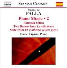 Manuel de Falla (1876-1946): Klavierwerke Vol.2, CD