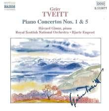 Geirr Tveitt (1908-1981): Klavierkonzerte Nr.1 & 5 (opp.1 & 156), CD