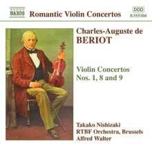 Charles-Auguste de Beriot (1802-1870): Violinkonzerte Nr.1,8,9, CD