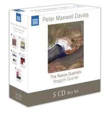 "Peter Maxwell Davies (1934-2016): Streichquartette Nr. 1-10 ""Naxos Quartette"", 5 CDs"