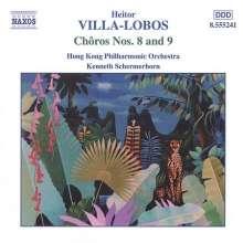 Heitor Villa-Lobos (1887-1959): Choros Nr.8 & 9 für Orchester, CD