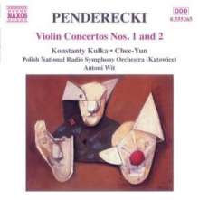 Krzysztof Penderecki (geb. 1933): Violinkonzerte Nr.1 & 2, CD