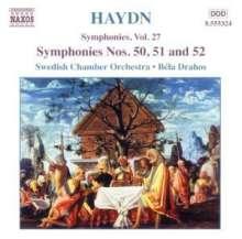 Joseph Haydn (1732-1809): Symphonien Nr.50,51,52, CD