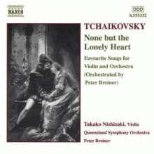 Peter Iljitsch Tschaikowsky (1840-1893): Liedtranskritpionen für Violine & Orchester, CD