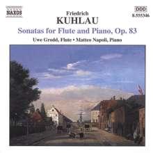 Friedrich Kuhlau (1786-1832): Sonaten für Flöte & Klavier op.83 Nr.1-3, CD