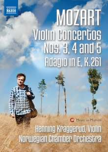 Wolfgang Amadeus Mozart (1756-1791): Violinkonzerte Nr.3-5, DVD
