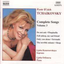 Peter Iljitsch Tschaikowsky (1840-1893): Sämtliche Lieder Vol.3, CD