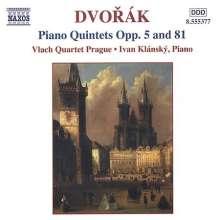 Antonin Dvorak (1841-1904): Klavierquintette op.5 & op.81, CD