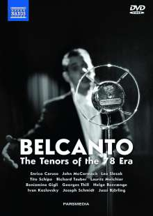 Belcanto - The Tenors of the 78 Era, 5 DVDs