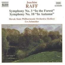 Joachim Raff (1822-1882): Symphonien Nr.3 & 10, CD