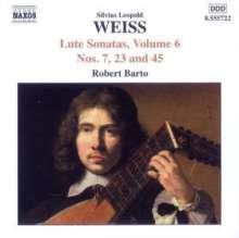Silvius Leopold Weiss (1687-1750): Lautensonaten Vol.6, CD
