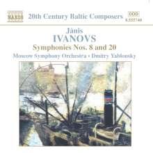 Janis Ivanovs (1906-1983): Symphonien Nr.8 & 20, CD