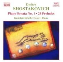 Dmitri Schostakowitsch (1906-1975): Präludien op.34 Nr.1-24, CD
