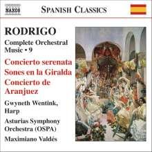 Joaquin Rodrigo (1901-1999): Orchesterwerke Vol.9, CD