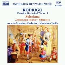 Joaquin Rodrigo (1902-1999): Orchesterwerke Vol.1, CD