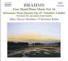 Johannes Brahms (1833-1897): Klaviermusik zu 4 Händen Vol.16, CD