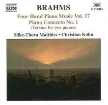 Johannes Brahms (1833-1897): Klaviermusik zu 4 Händen Vol.17, CD