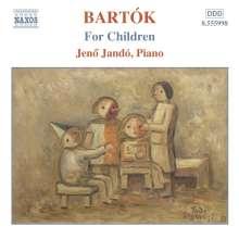 """Bela Bartok (1881-1945): Klavierwerke Vol.4 """"Für Kinder"""", CD"""