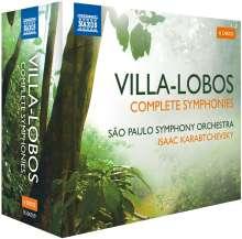 Heitor Villa-Lobos (1887-1959): Symphonien Nr.1-4,6-12, 6 CDs