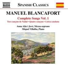 Manuel Blancafort (1897-1987): Sämtliche Lieder Vol.1, CD