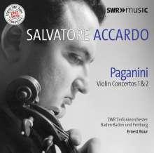 Niccolo Paganini (1782-1840): Violinkonzerte Nr.1 & 2, CD