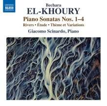 Bechara El-Khoury (geb. 1957): Klaviersonaten Nr.1-4, CD