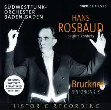 Hans Rosbaud dirigiert Bruckner, 8 CDs