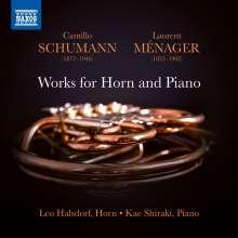 Camillo Schumann (1872-1946): Sonaten für Horn & Klavier Nr.1 & 2, CD