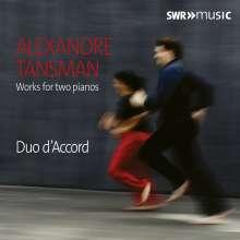 Alexandre Tansman (1897-1986): Werke für 2 Klaviere, CD