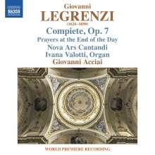 Giovanni Legrenzi (1626-1690): Compiete con le lettanie et antifone della B.V. a5 op.7, CD