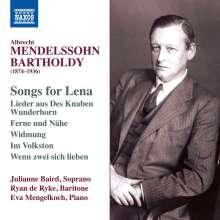 """Albrecht Mendelssohn Bartholdy (1874-1936): Lieder - """"Songs for Lena"""", CD"""