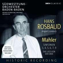 Hans Rosbaud dirigiert Mahler, 8 CDs