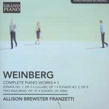 Mieczyslaw Weinberg (1919-1996): Sämtliche Klavierwerke Vol.1, CD