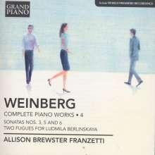 Mieczyslaw Weinberg (1919-1996): Sämtliche Klavierwerke Vol.4, CD