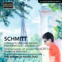 Florent Schmitt (1870-1958): Sämtliche Werke für 2 Klaviere & Klavier 4-händig Vol.1, CD