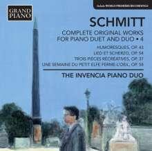 Florent Schmitt (1870-1958): Sämtliche Werke für 2 Klaviere & Klavier 4-händig Vol.4, CD