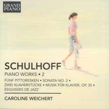 Erwin Schulhoff (1894-1942): Klavierwerke Vol.2, CD