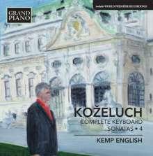 Leopold Kozeluch (1747-1818): Sämtliche Sonaten für Tasteninstrumente Vol.4, CD