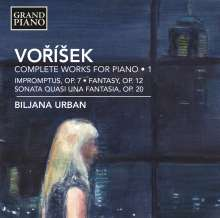 Jan Hugo Vorisek (1791-1825): Sämtliche Klavierwerke Vol.1, CD
