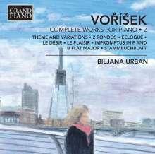 Jan Hugo Vorisek (1791-1825): Sämtliche Klavierwerke Vol.2, CD