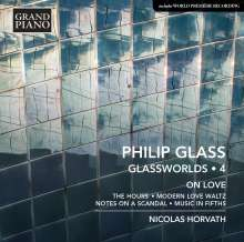 """Philip Glass (geb. 1937): Klavierwerke """"Glassworlds 4"""", CD"""