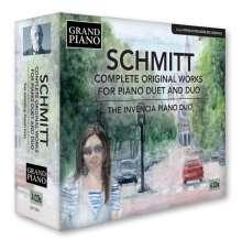 Florent Schmitt (1870-1958): Sämtliche Werke für 2 Klaviere & Klavier 4-händig, 4 CDs