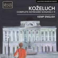 Leopold Kozeluch (1747-1818): Sämtliche Sonaten für Tasteninstrumente Vol.9, CD