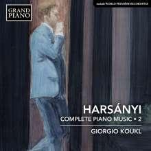 Tibor Harsanyi (1998-1954): Sämtliche Klavierwerke Vol.2, CD