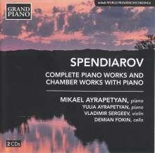 Aleksandr Spendiarian (1871-1928): Sämtliche Klavierwerke & Kammermusiken mit Klavier, 2 CDs