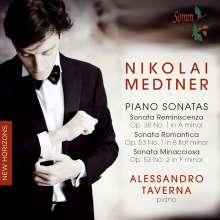 Nikolai Medtner (1880-1951): Klaviersonaten op.38 Nr.1 & op.53 Nr.1 & 2, CD