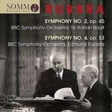 Edmund Rubbra (1901-1986): Symphonien Nr.2 & 4, CD